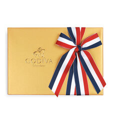 Assorted Chocolate Gold Gift Box, Patriotic Ribbon, 36 pc.
