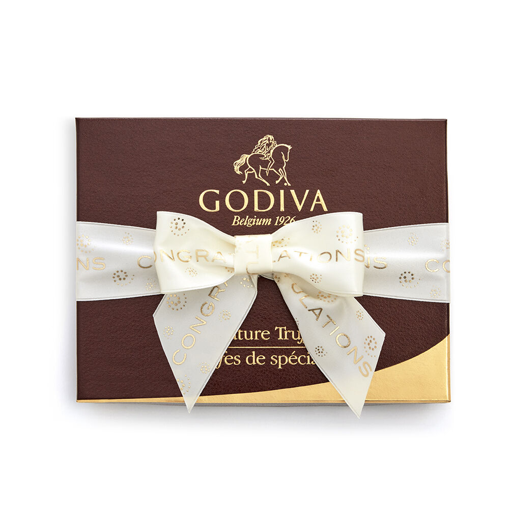 Signature Truffle Gift Box, Congratulations Ribbon, 12 pc.