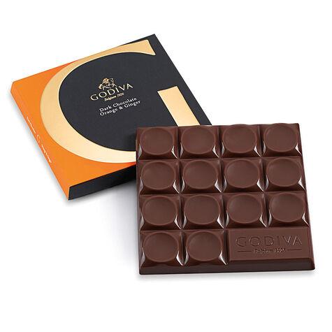 Mexico Dark Chocolate Orange & Ginger Bar, 68% Cocoa, 2.8 oz.