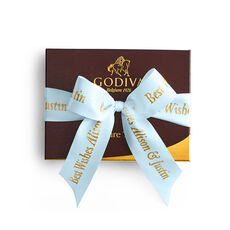 Signature Truffles Gift Box, Personalized Light Blue Ribbon, 12 pc.