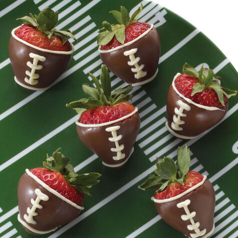 Football Dipped Strawberries