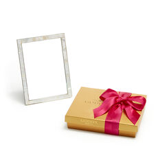 Mother of Pearl Shell Picture Frame, 5x7with Assorted Chocolate Spring Gift Box, 19 pc.