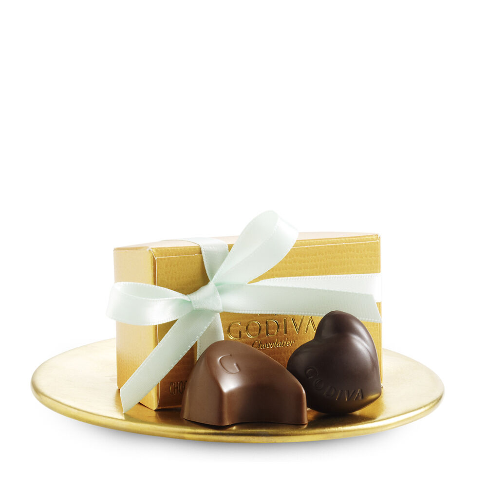Assorted Chocolate Gold Favor, Mint Ribbon, 2 pc.