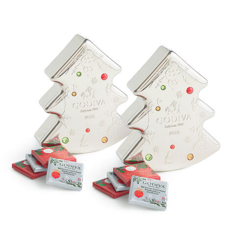Chocolate Carre Tin, Set of 2, 10 pc each
