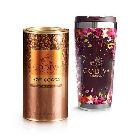 Godiva Tumbler with Milk Chocolate Hot Cocoa