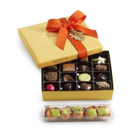 19 pc. Gold Ballotin - Fall and 5 pc. Pumpkin Patch Truffles