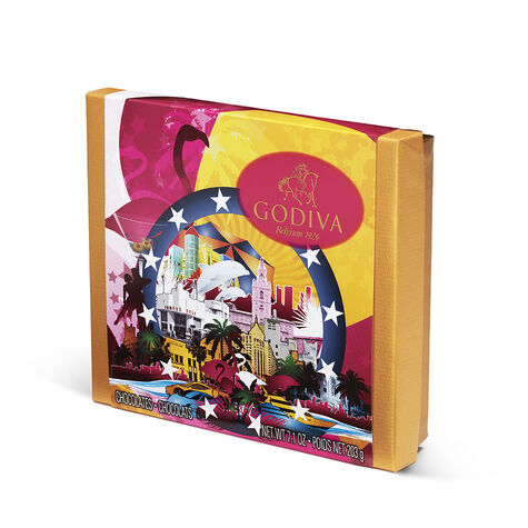 Assorted Chocolate Souvenir Gift Box, Miami, 19 pc.