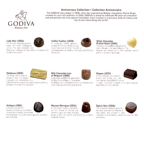 Assorted Chocolate Gift Box, 90th Anniversary, 18 pc.