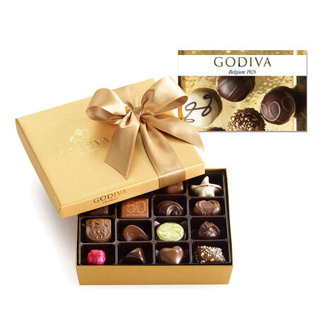 $25 GODIVA Gift Card and 19 pc. Gold Ballotin - Classic