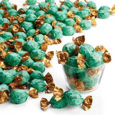 Dark Chocolate Chip Mint Truffles, Wrapped, Bulk