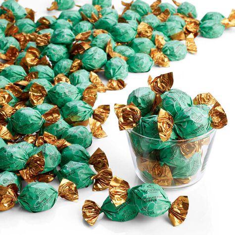 Dark Chocolate Chip Mint Truffles, Wrapped, Bulk