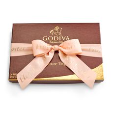 Happy Easter Signature Chocolate Truffles, Peach Ribbon, 24 pc.