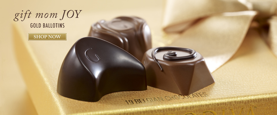 Chocolate Gold Ballotins from GODIVA