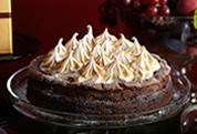 Flourless Chocolate Cake with Meringue