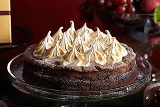 Chocolate Flourless Cake with Meringue