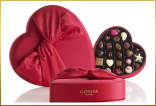GODIVA Valentine's Day Assorted Chocolate Gift Boxes