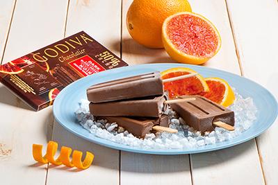 Chocolate Blood Orange Frozen Pops