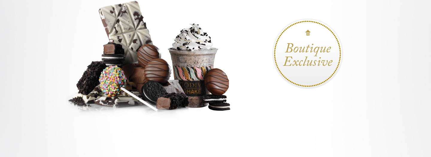 Delight your inner child! NEW GODIVA OREO® Treats  featuring our Cold, Creamy, & Chocolatey OREO® Shake!