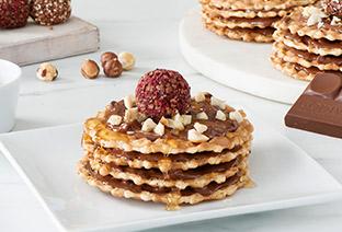 Hazelnut Waffle Cookie Cakes