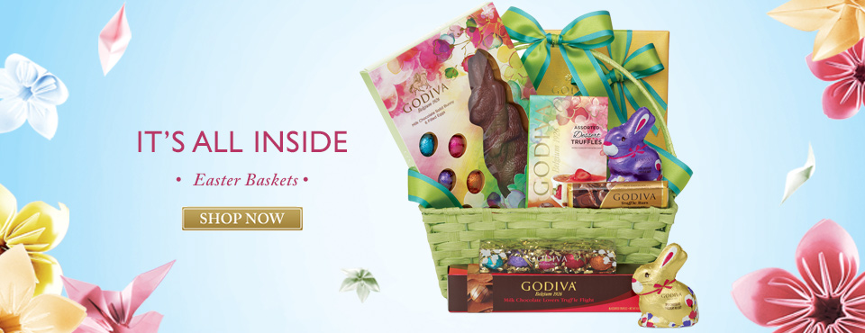 Godiva Chocolate Easter Baskets