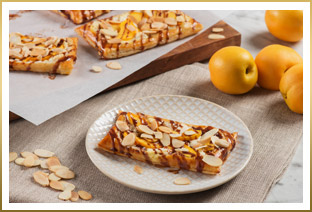 Goat Cheese & Apricot Tarts with Chocolate & Almonds