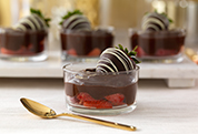 Chocolate-Covered Strawberry Pudding Parfaits