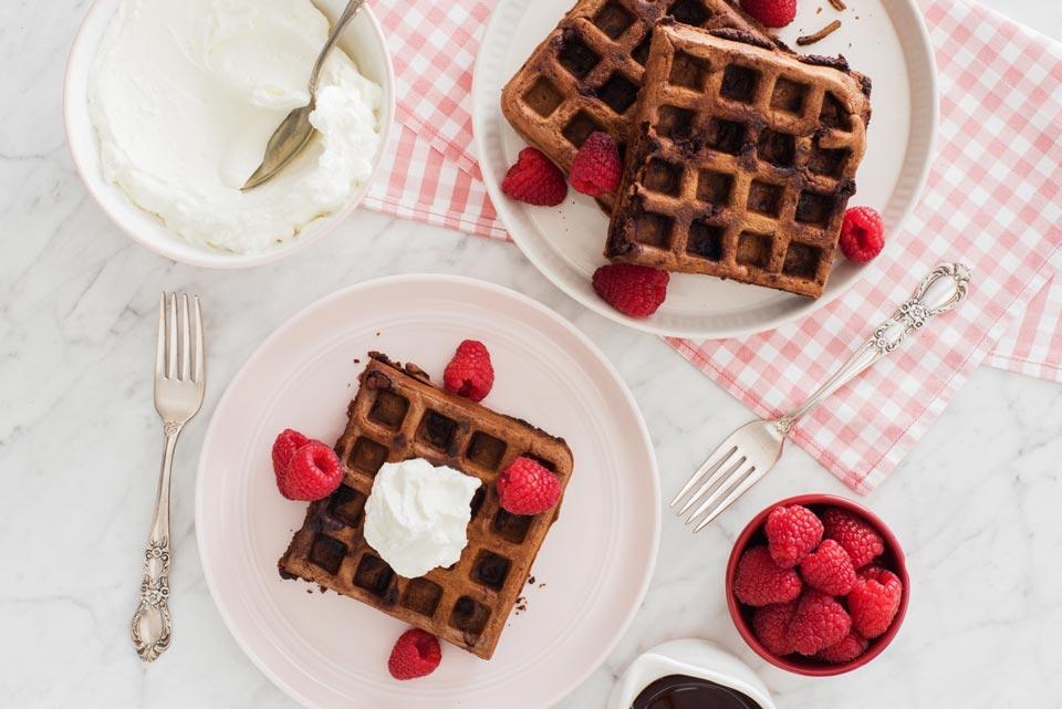Decadent Chocolate Waffles