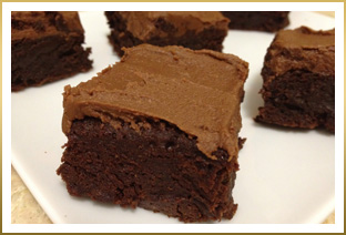 Super Rich GODIVA Frosted Fudgy Brownies