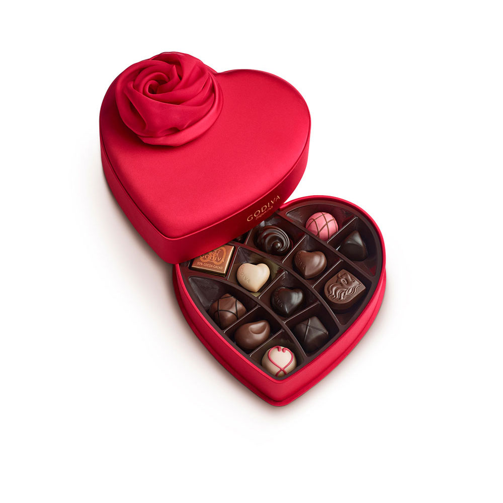 15 pc. Valentine's Day Keepsake Chocolate Heart | GODIVA