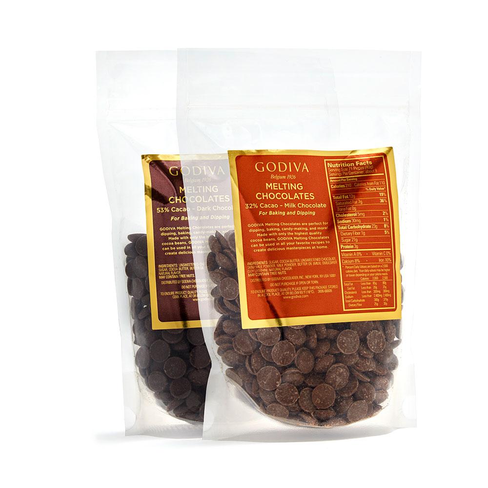 Dark & Milk Chocolate Baking Chocolates , Set of 2, 12 oz. each ...