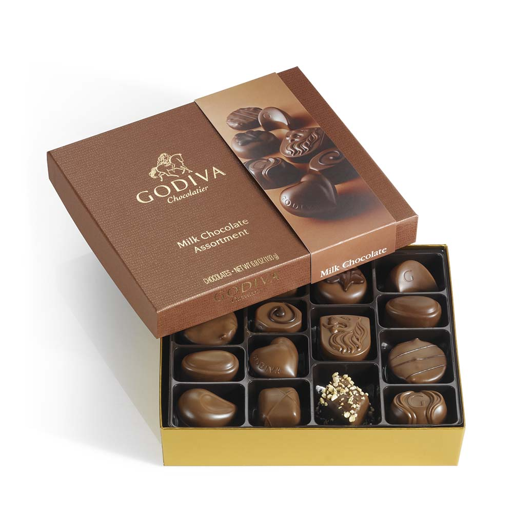 15 pc. Milk Chocolate Gift Box | GODIVA