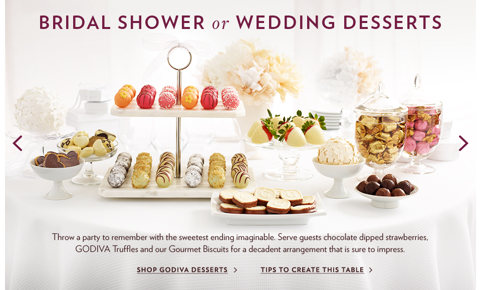 Ideas for Chocolate at Your Wedding & Bridal Events