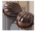 Dark Chocolate Almond Oyster Chocolate Piece