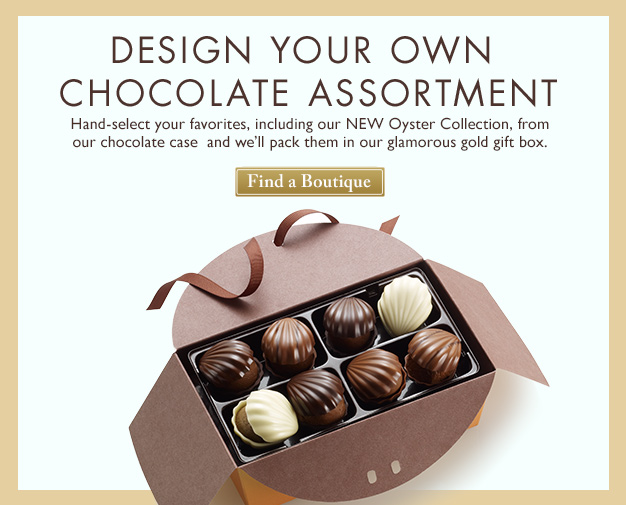 Chocolate Oyster Collection - Pack Your Own Gold Ballotin