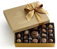 Gift Ideas for Him - Nut and Caramel Gift Box with Classic Gold Ribbon