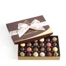 Signature Truffles Gift Box, Thank You Ribbon, 24 pc.