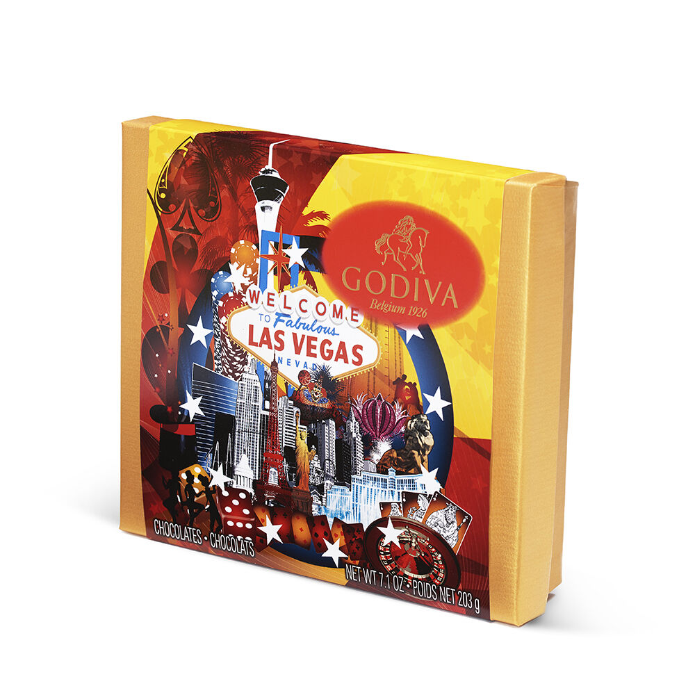 Assorted Chocolate Souvenir Gift Box, Las Vegas, 19 pc.