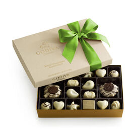 White Chocolate Assortment Gift Box, Kiwi Ribbon, 24 pc.