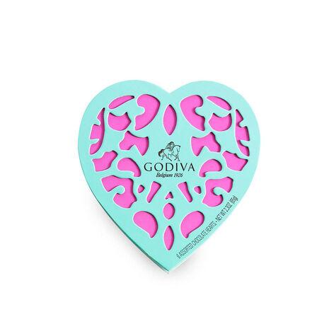6 pc. Iconique Heart - Turquoise