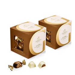 White Chocolate Coffee G Cube Box, Set of 2, 22 pcs. each