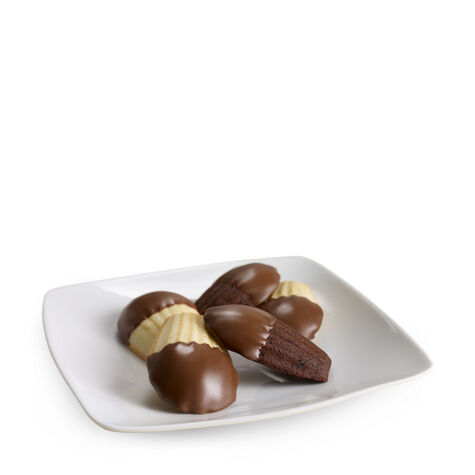 Chocolate Dipped Madeleines