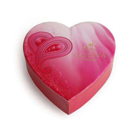 Paisley-Print Mini Heart Gift Box