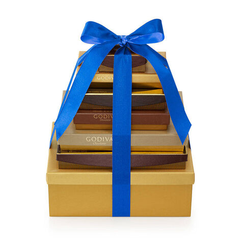 7-Tier Ultimate Chocolate Gift Tower with Hanukkah Ribbon