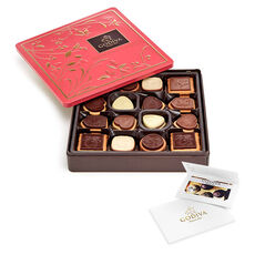 $50 GODIVA Holiday Gift Card & Chocolate Biscuit Tin, 46 pc.
