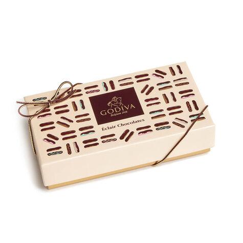 Godiva Cotton Throw Blanket with Chocolate Eclairs Gift Box, 5 pc.