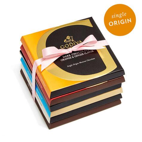 G by Godiva Chocolate Bar Variety Pack, Pink Ribbon, 6 pc
