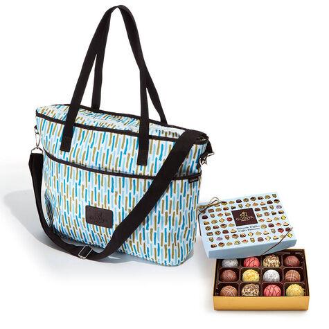 Godiva Insulated Cooler Bag with Patisserie Dessert Truffles, 12 pc