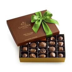 Milk Chocolate Gift Box, Kiwi Ribbon, 22 pc.