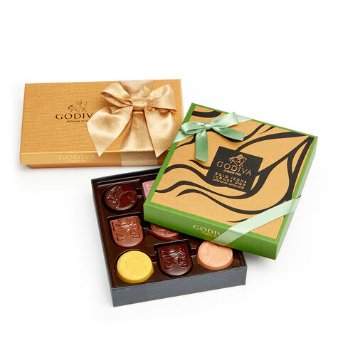 Assorted Chocolate Gold Icons Gift Box, 9 pc. & Assorted Chocolate Gold Gift Box, 8 pc.