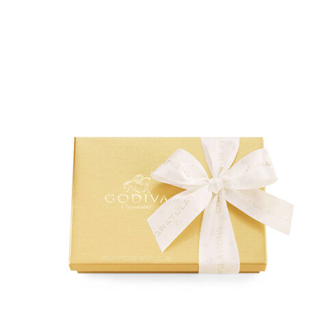 Assorted Chocolate Gold Gift Box, Congratulations Ribbon, 19 pc.